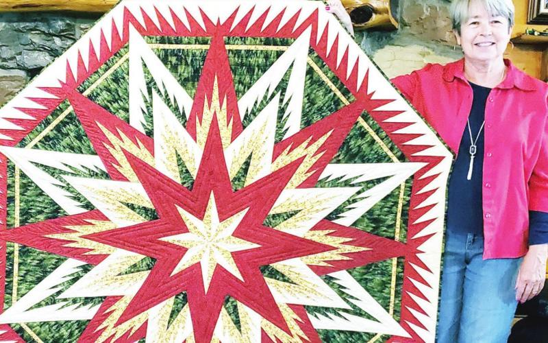 Quilter challenges herself all the way to a blue ribbon