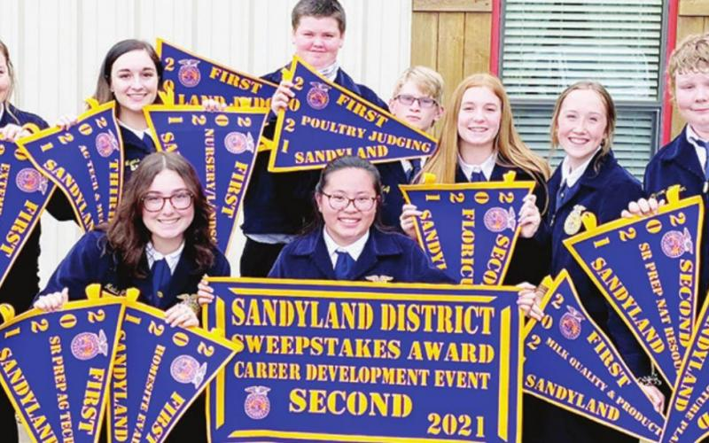 Teague FFA takes home second at contest